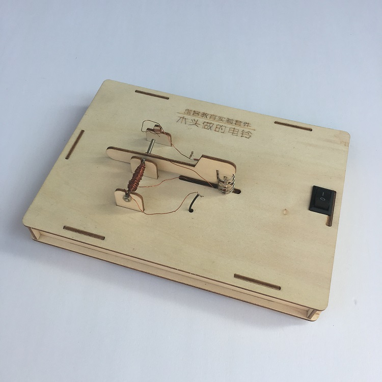 DIY maker wooden model electromagnetic vibrator